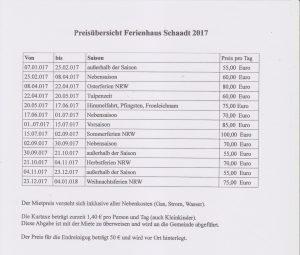 2016PreislisteFerienhausSchaadt